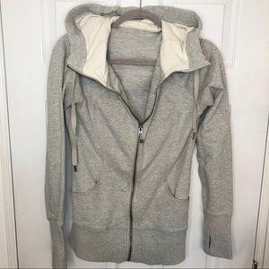 Lululemon Lightweight Grey Zip Up Hoodie Sweater